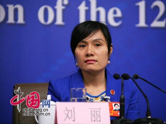 全国人大代表、厦门三度足浴有限公司职工刘丽。中国网高聪摄