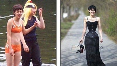 米雪儿瘦身前后对比照。