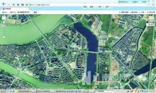 网友上传的新开河卫星图及实景图。