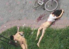 男女窗边打野战双双坠