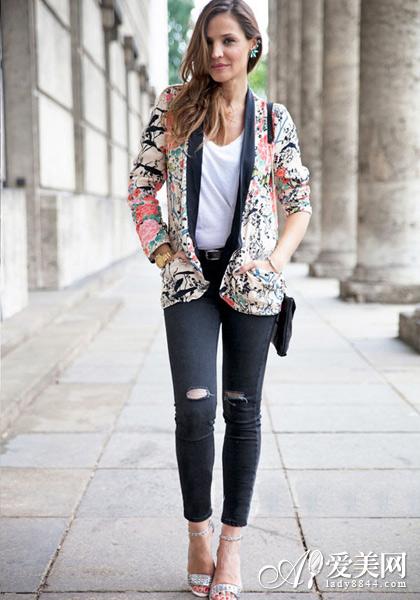 印花当道 印花外套让你变身花美人